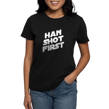 Han Shot First Women's Dark T-Shirt
