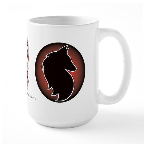 Red Sun Belgian Large Mug