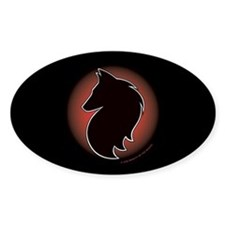 Red Sun Belgian Oval Decal