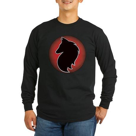 Red Sun Belgian Long Sleeve Dark T-Shirt