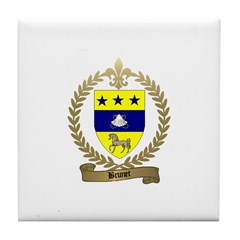 BRUNET Family Crest Tile Coaster