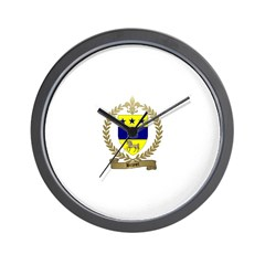 BRUNET Family Crest Wall Clock
