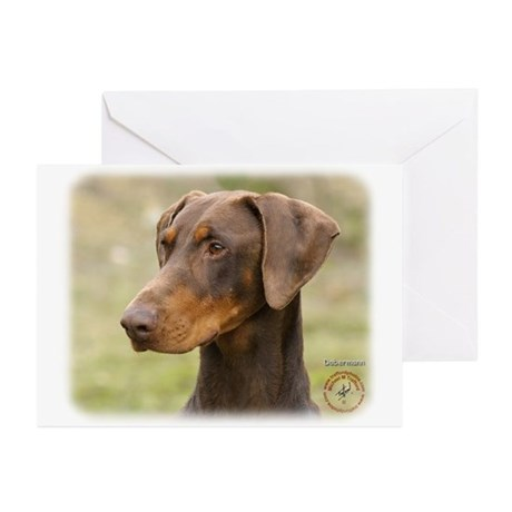 Dobermann 9K060D-19 Greeting Cards (Pk of 10)