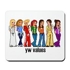 YW Value Princesses Mousepad