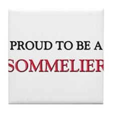 Proud to be a Sommelier Tile Coaster