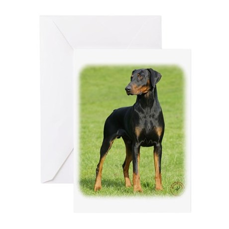 Dobermann 9P99D-60 Greeting Cards (Pk of 10)