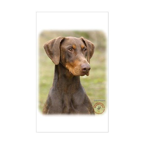 Dobermann 9K060D-19 Sticker (Rectangle)