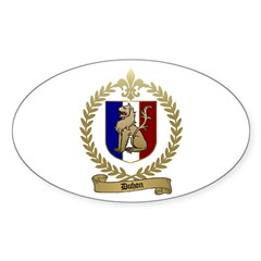 DUHON Family Crest Oval Decal