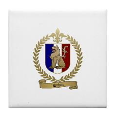 DUHON Family Crest Tile Coaster
