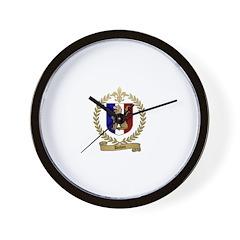 DUHON Family Crest Wall Clock