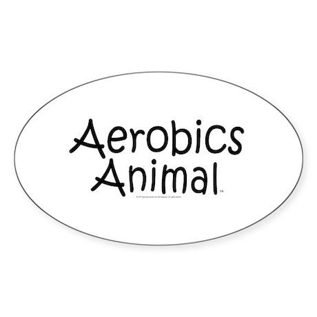TOP Aerobics Animal Oval Sticker (50 pk)