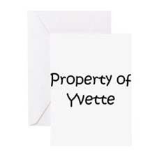 Unique Yvette Greeting Cards (Pk of 10)