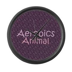 TOP Aerobics Animal Large Wall Clock