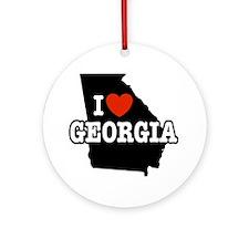 I Love Georgia Keepsake (Round)