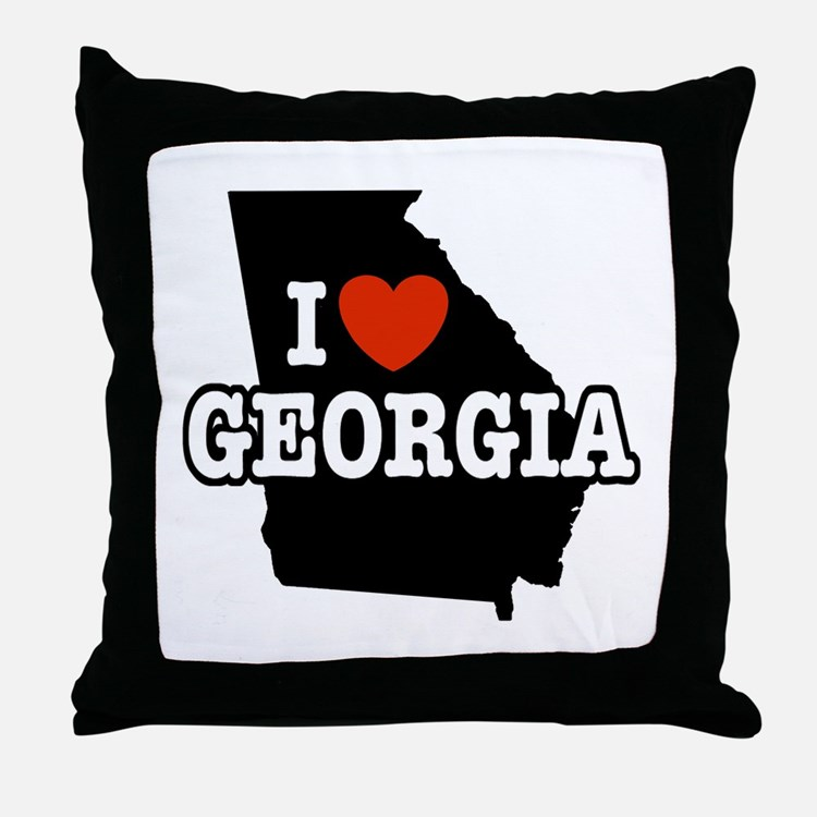 I Love Georgia Throw Pillow