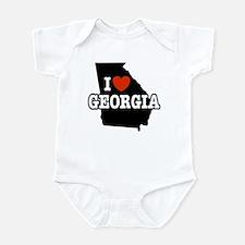 I Love Georgia Infant Creeper