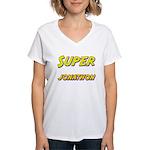 Super jonathon Women's V-Neck T-Shirt
