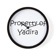 Funny Yadira Wall Clock