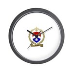 DUGUAY Family Crest Wall Clock