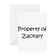 Unique Zackary Greeting Card