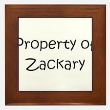 Funny Zackary Framed Tile