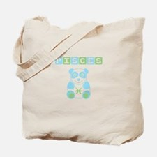 Pisces Bear - Blue Tote Bag