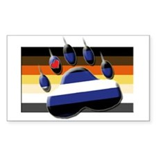 bear claw and flag Rectangle Decal