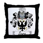 Scura Family Crest Throw Pillow