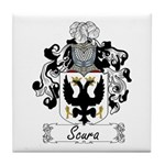 Scura Family Crest Tile Coaster