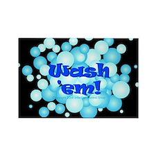 Wash Em! Rectangle Magnet