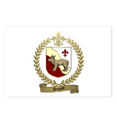 DUGAST Family Crest Postcards (Package of 8)