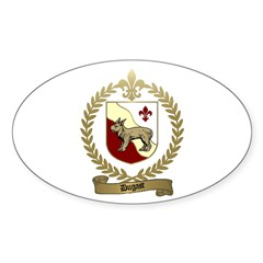 DUGAST Family Crest Oval Decal