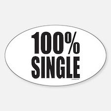 100% SINGLE Oval Decal