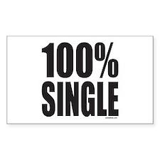 100% SINGLE Rectangle Decal