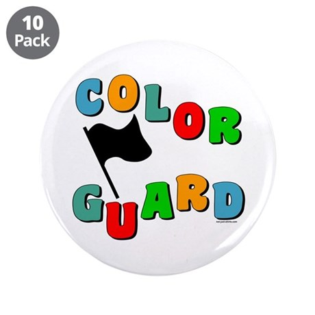 """Colorful Guard 3.5"""" Button (10 pack)"""