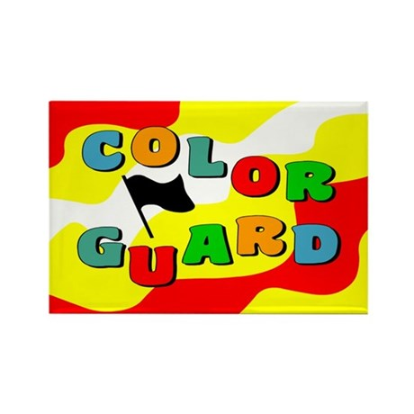 Colorful Guard Rectangle Magnet