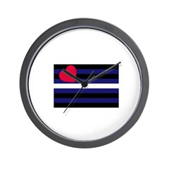 leather flag Wall Clock