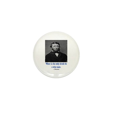 THOREAU WATER QUOTE Mini Button (10 pack)