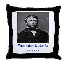 THOREAU WATER QUOTE Throw Pillow