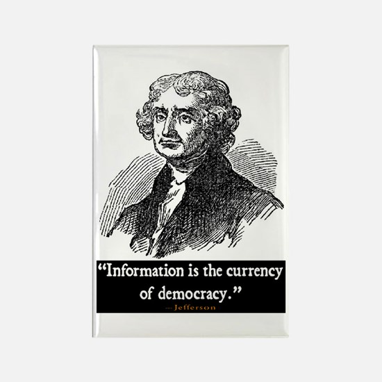 JEFFERSON DEMOCRACY QUOTE Rectangle Magnet