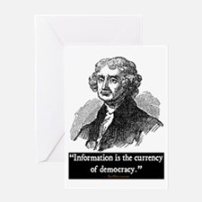 JEFFERSON DEMOCRACY QUOTE Greeting Card