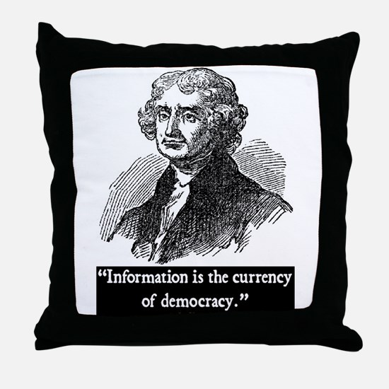 JEFFERSON DEMOCRACY QUOTE Throw Pillow