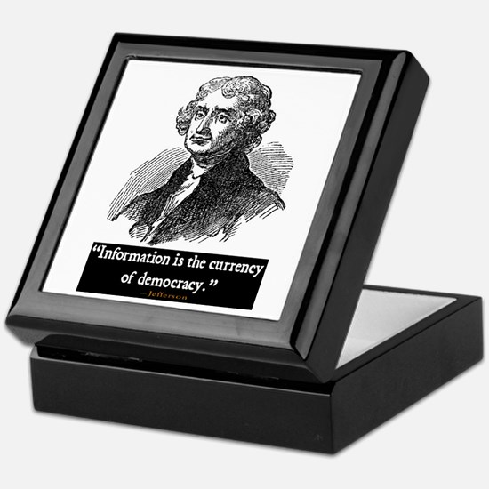 JEFFERSON DEMOCRACY QUOTE Keepsake Box