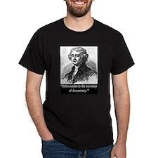 JEFFERSON DEMOCRACY QUOTE T-Shirt