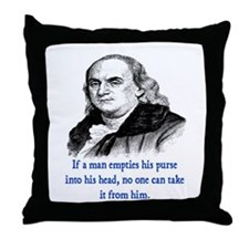 FRANKLIN QUOTE Throw Pillow