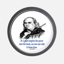 FRANKLIN QUOTE Wall Clock