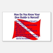 Scuba Buddy Narced? Rectangle Decal