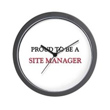 Proud to be a Site Manager Wall Clock