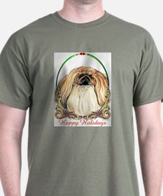 Pekingese Happy Holidays T-Shirt