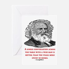 LONGFELLOW QUOTE Greeting Card
